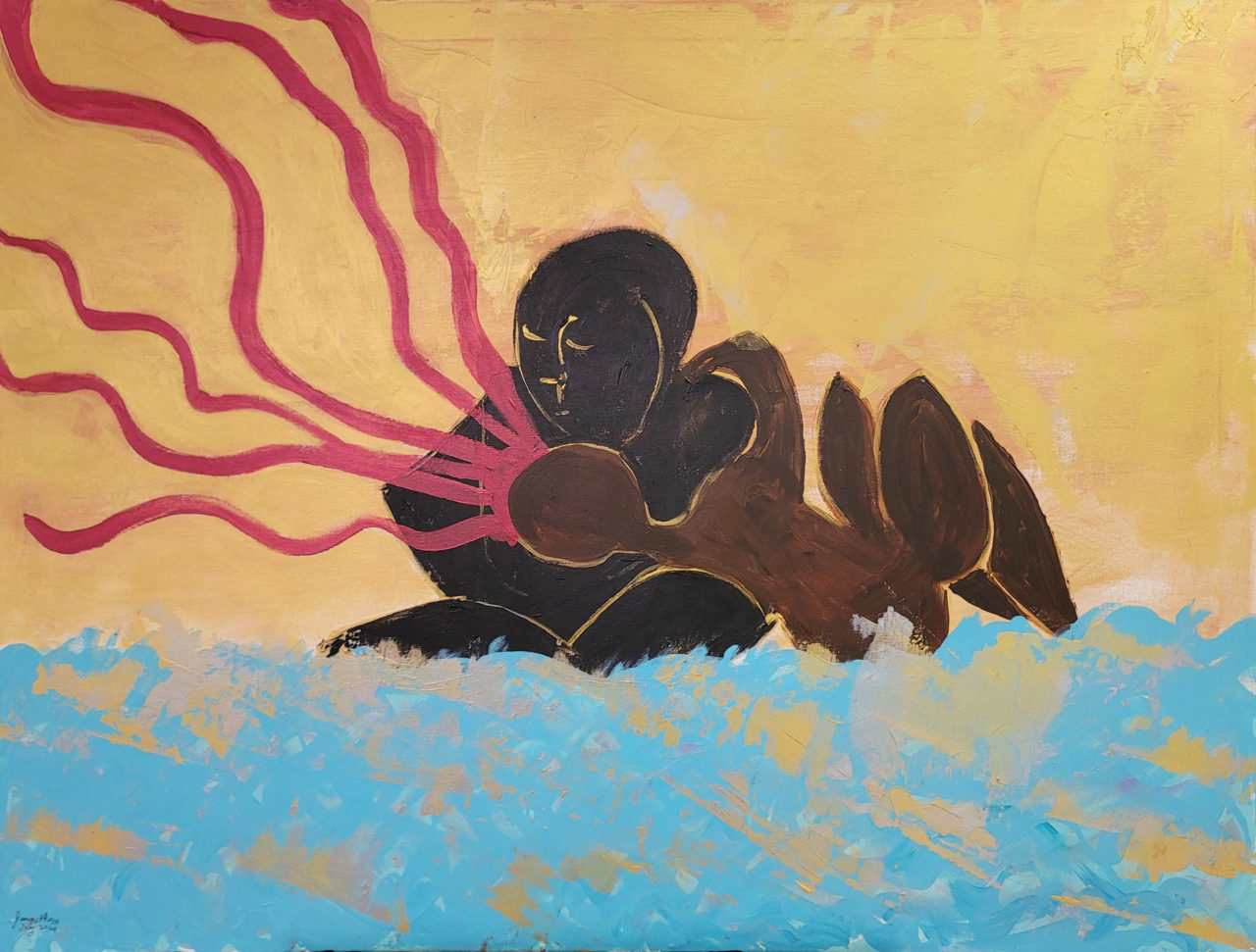 Seduction of The Buddha by Medusa - Jeanne Ross