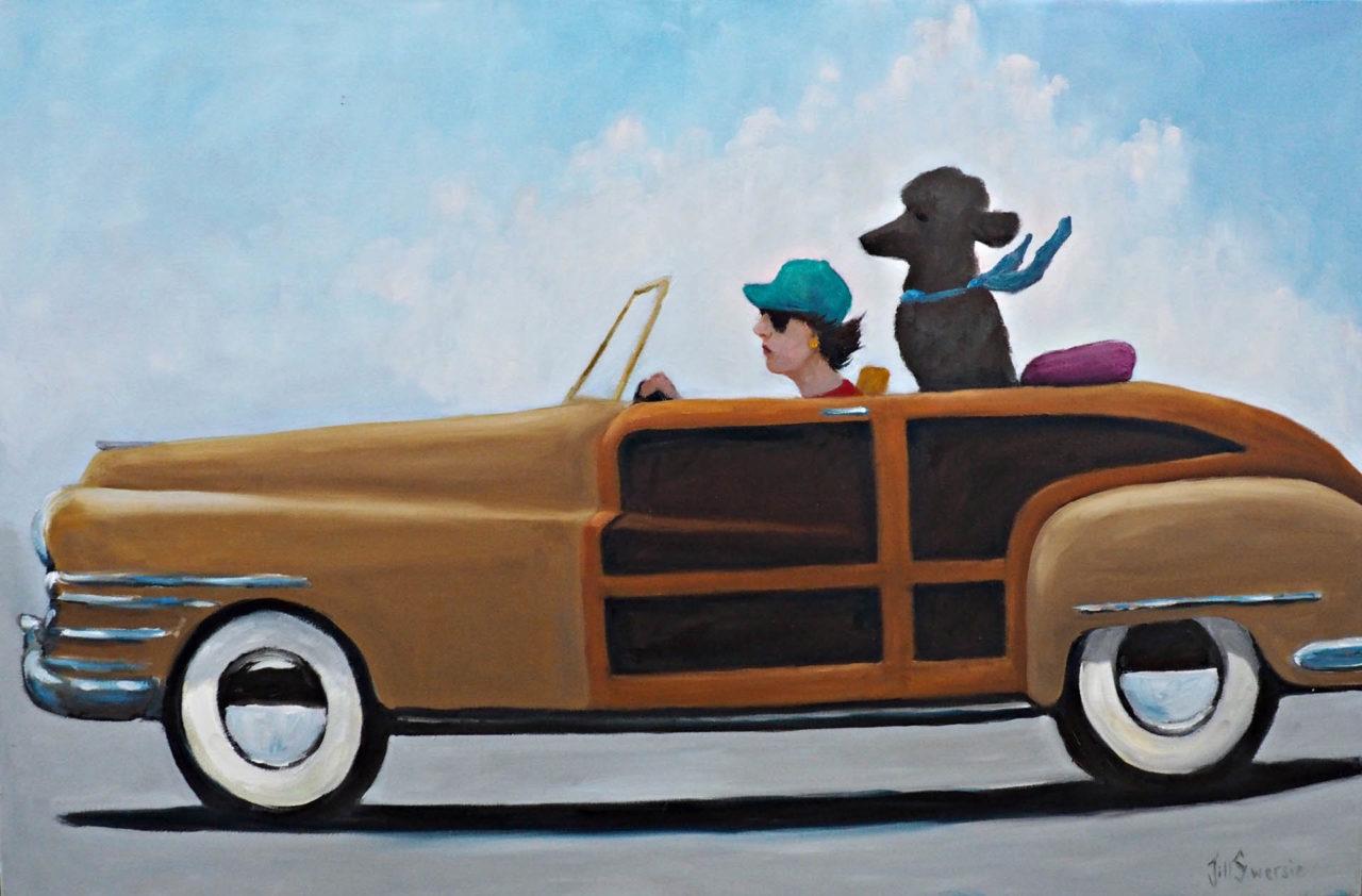 Riding in My Woodie - Jill Swersie